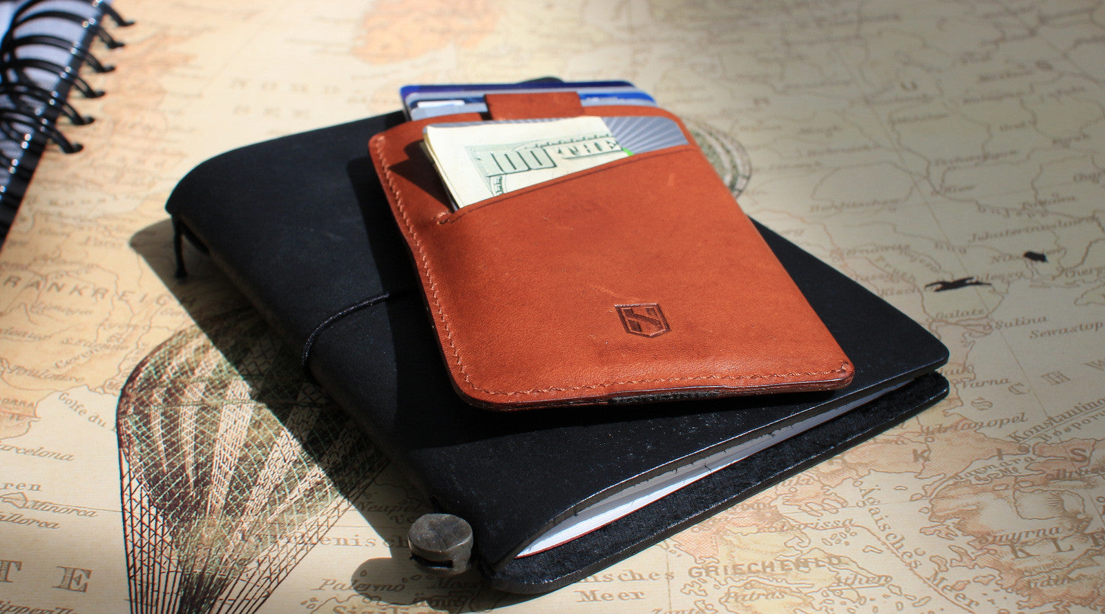 Card Sleeve Case / Dark Brown
