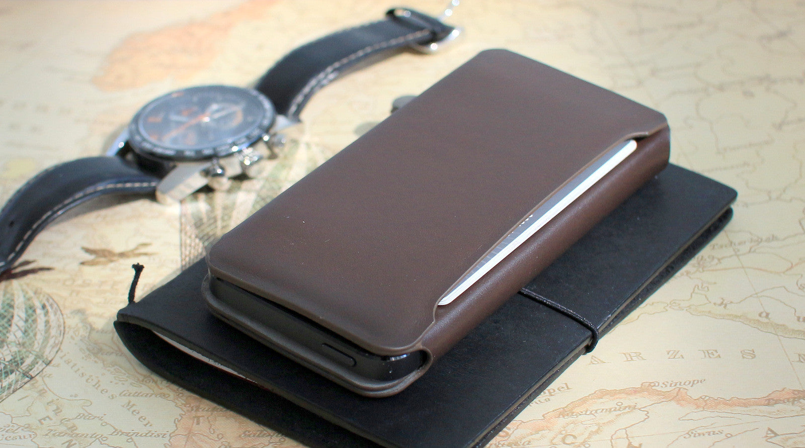 iPhone Wallet Wrap / BLACK