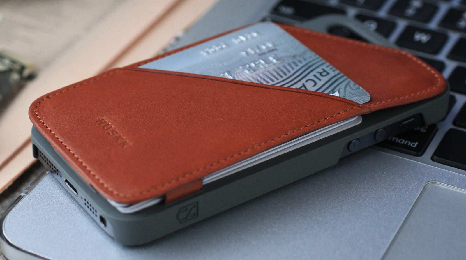 iPhone 5 Wallet Case - Card Case for iPhone 5 by Huskk - High-End Premium Italian Vegetable Tanned Leather - Tan - 6