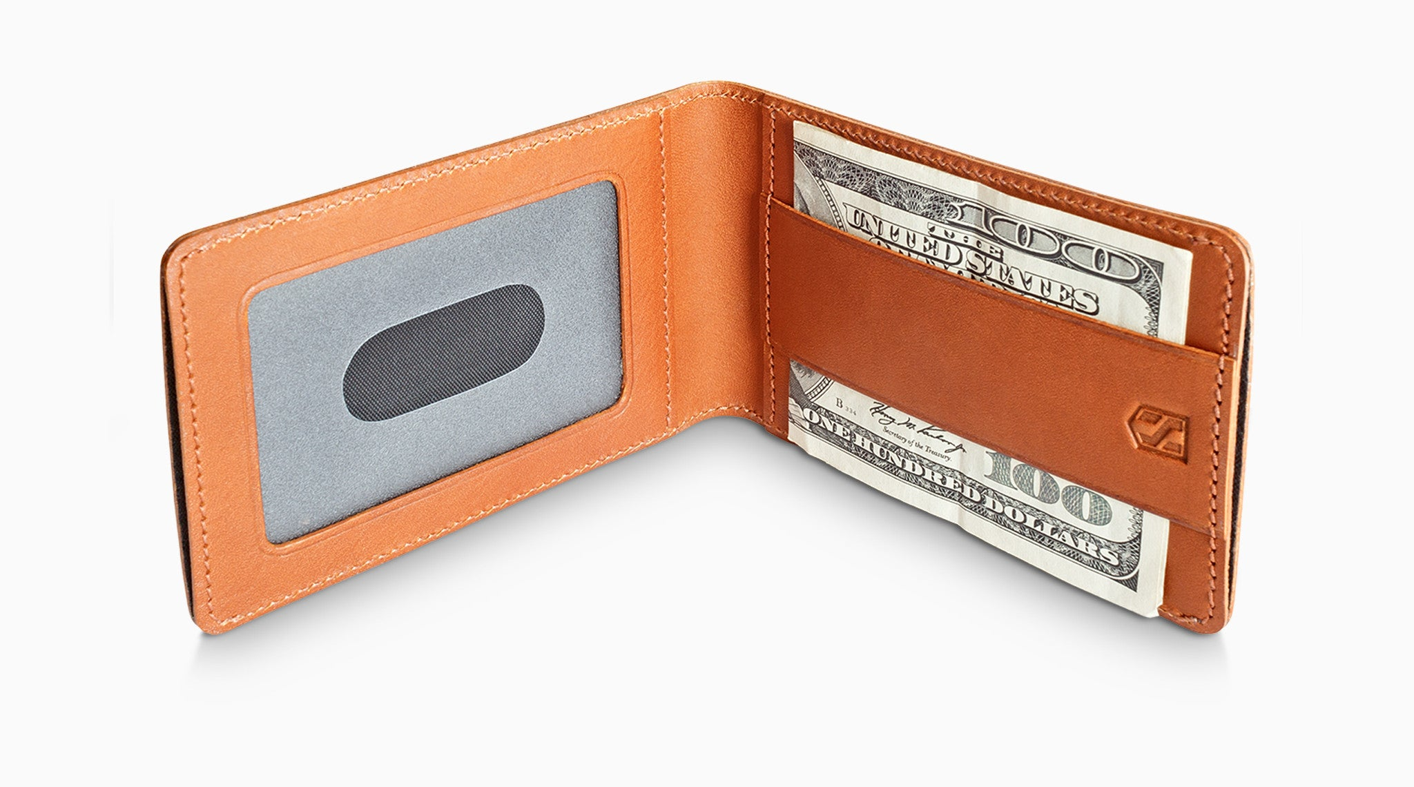Card Sleeve Holder with RFID Blocking / Tan