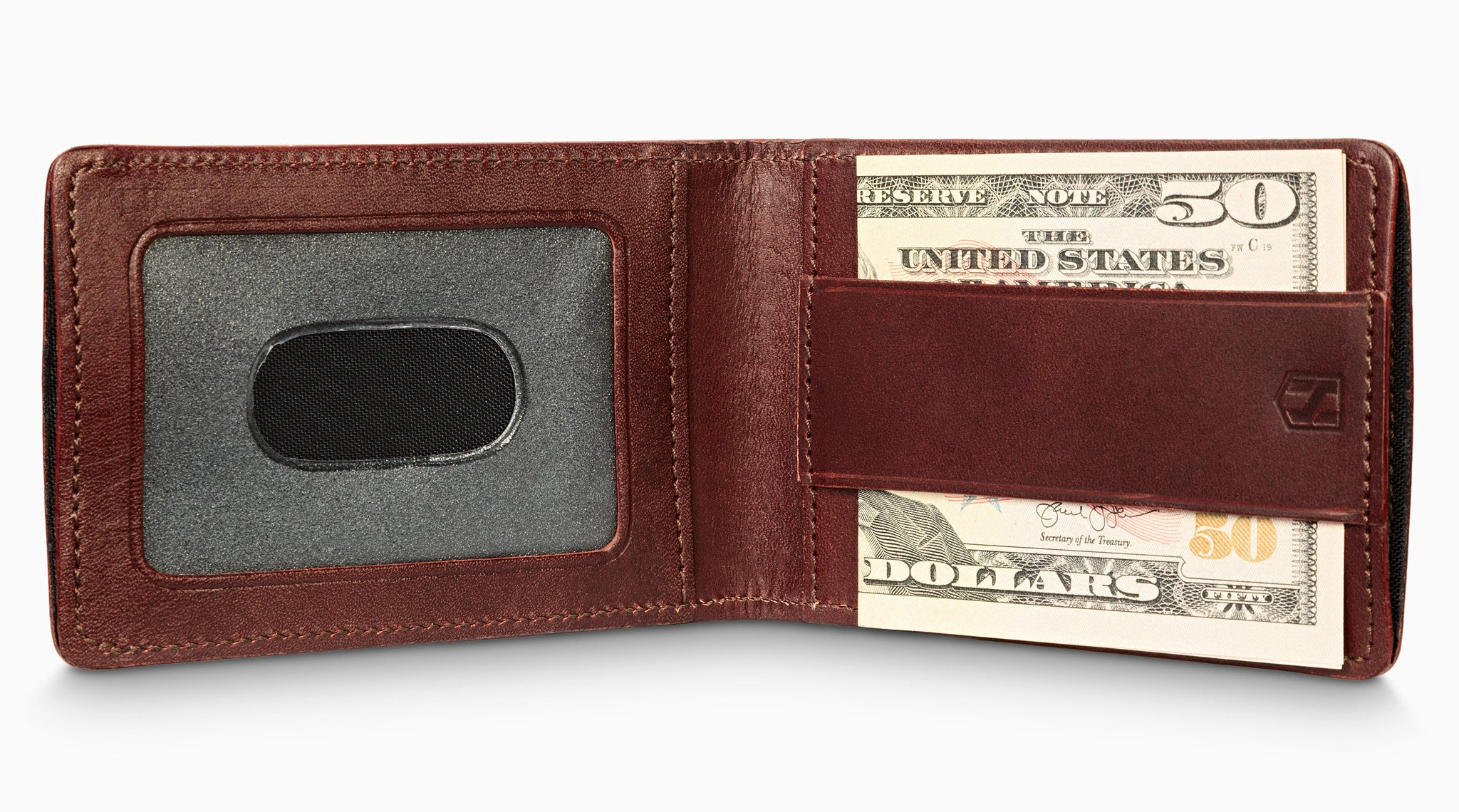 Card Sleeve Holder with RFID Blocking / Dark Brown