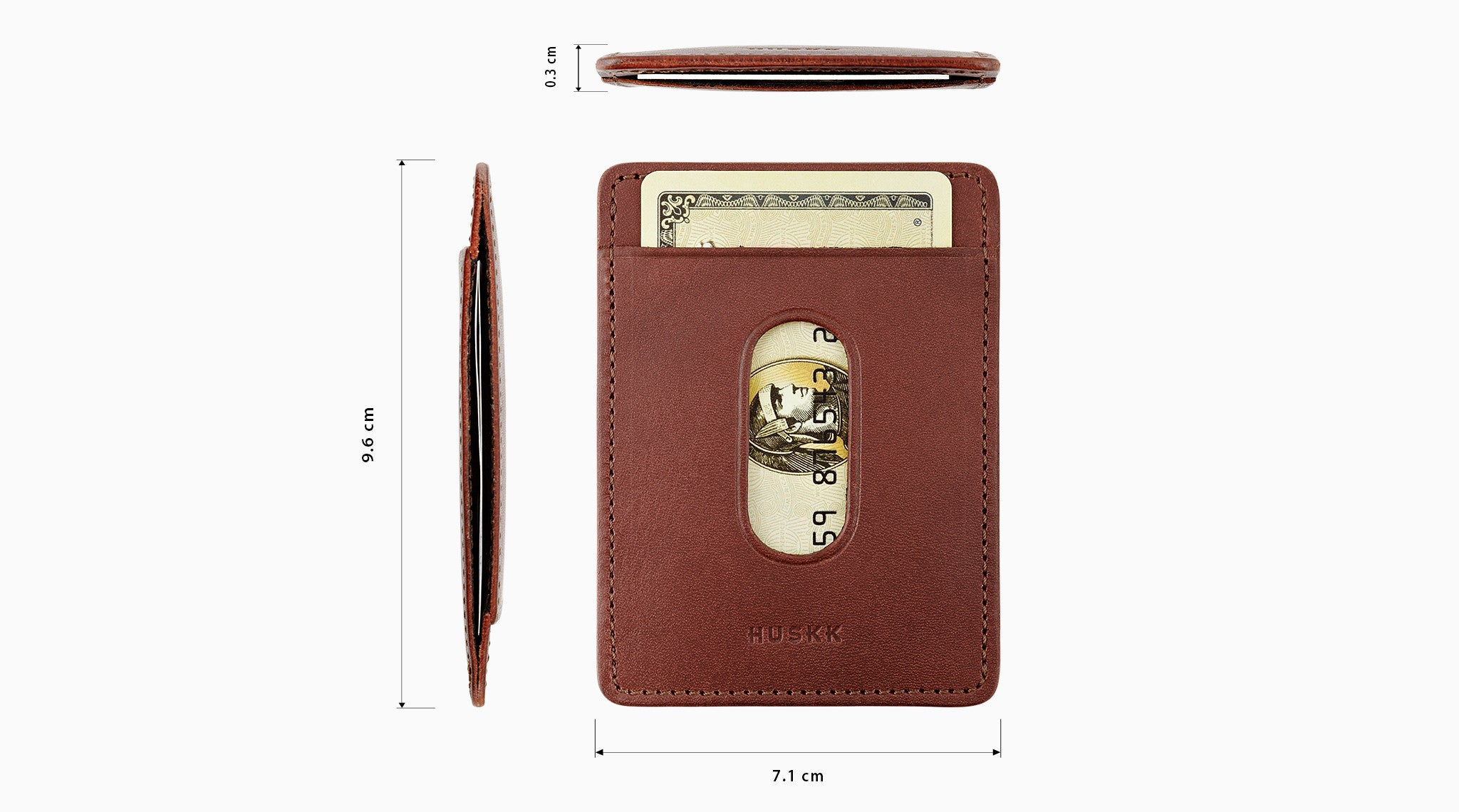 Ultra Slim Sleeve Wallet / Dark Brown
