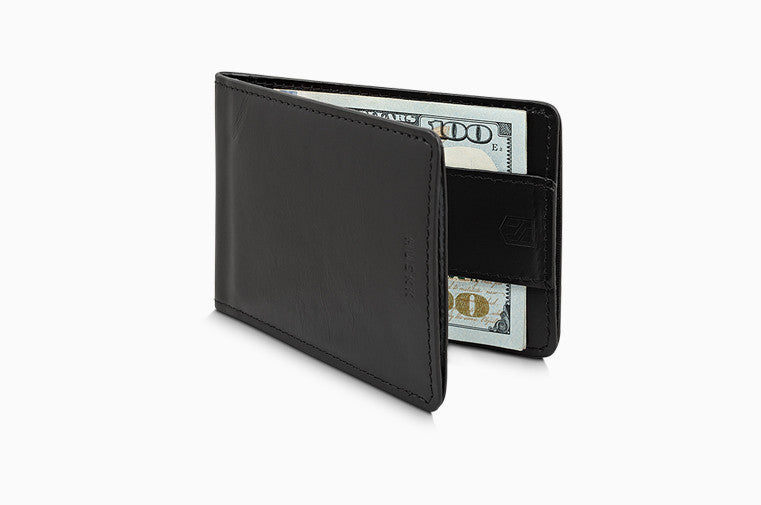 Slim Front Pocket Leather Rfid Wallet for Men - Strap Money Clip - Premium Quality - Up To 8 Cards
