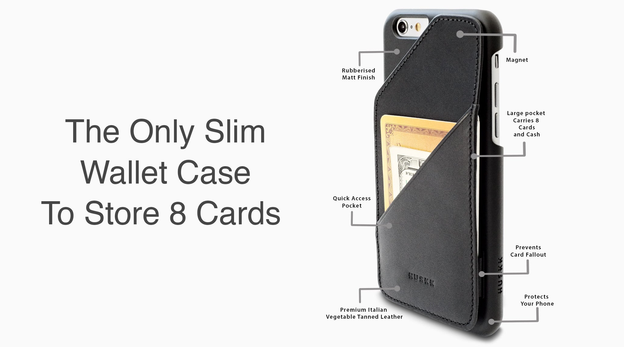 iPhone 6/6s Wallet Case / Black