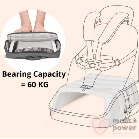 Diaper Bag with Portable Dining Chair Bearing Capacity