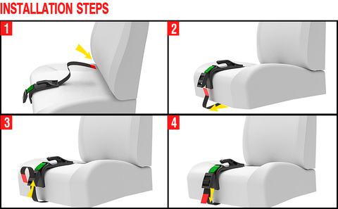 Pregnancy Seat Belt Positioner Installation Steps