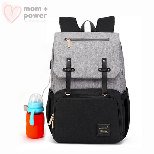 Diaper Backpack Black Gray