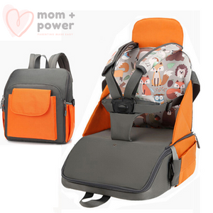 2-In-1 Diaper Bag with Portable Dining Chair | Mom Power™
