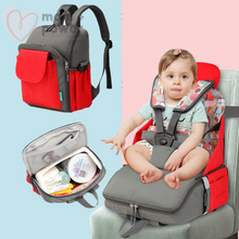 Load image into Gallery viewer, Diaper Backpack with Portable Dining Chair