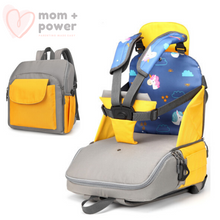 Load image into Gallery viewer, Diaper Backpack with Portable Dining Chair Lemon Yellow