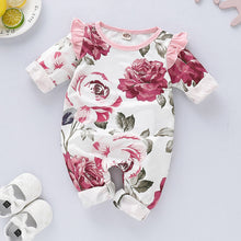 Load image into Gallery viewer, [Spring 2021] Infant Baby Girl Ruffles Floral Romper | Mom Power