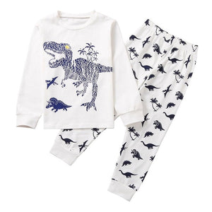 winter set for boys Baby Kids clothes Cartoon Dinosaur T shirt Tops+ Pants Pajamas Sleepwear Outfits Set 6 years conjunto menino