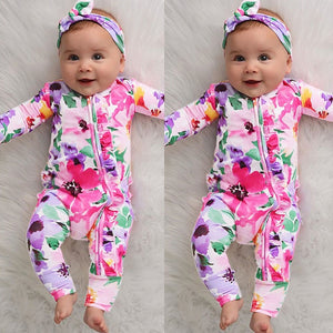 [Spring 2021] Infant Baby Girl Floral Romper | Mom Power™