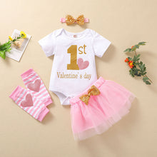 Load image into Gallery viewer, My First Valentines Day Baby Girl 4PCS Set | Mom Power™