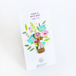 Rose in Vase Pin