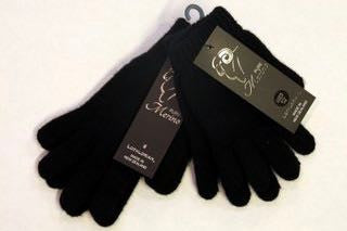 Pure Merino Black Gloves