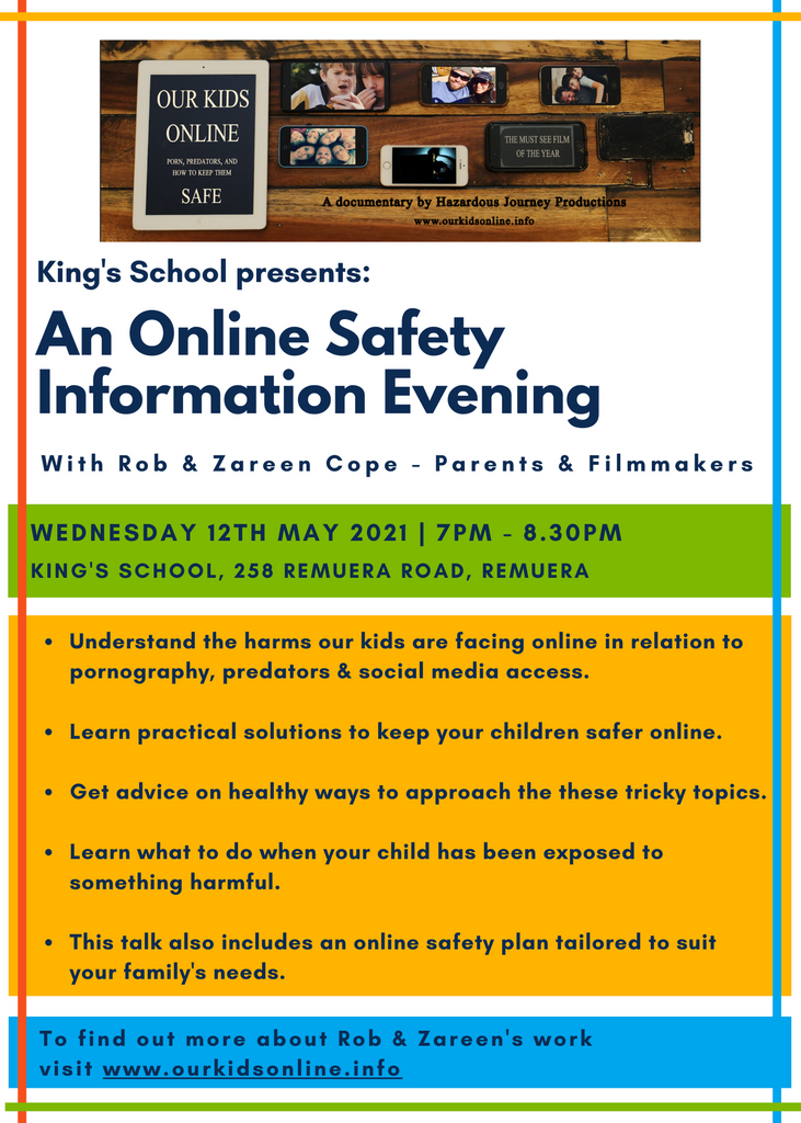 Online Safety Information Evening - Rob & Zareen Cope