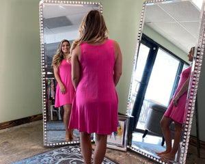 Fuchsia Tank Dress
