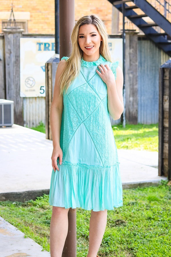 Mint Sleeveless Dress