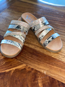 Gingerly White & Silver Sandal