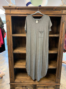 Charcoal Short Sleeve Maxi