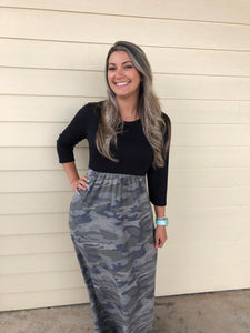 Camo color block Maxi