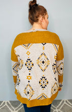 Load image into Gallery viewer, Mustard Aztec Print Long Sleeve Top