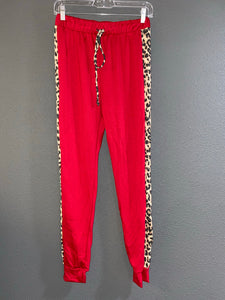 Red Side Strip Joggers
