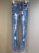 Load image into Gallery viewer, High Rise Distressed Skinny Jeans