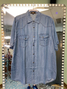 Mens Mid Wash Sleeve Button up