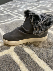 Plush Gray Lined Booties