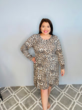 Load image into Gallery viewer, Long Sleeve Animal Print Dress