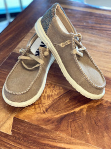 David Tan Deck Shoe w/ Laces Unisex