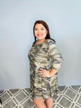 Load image into Gallery viewer, Camo Dress with Pockets