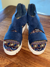 Load image into Gallery viewer, Allie Navy Platform Sandal