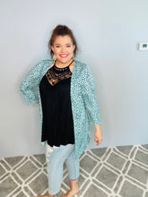 Load image into Gallery viewer, Mint Polka Dot Kimono