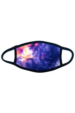 Face Mask Purple Tie Dye