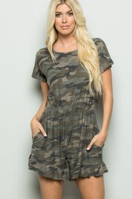 Camo Romper with Pockets