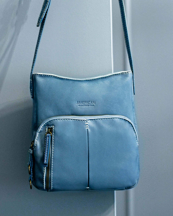 Albany Crossbody - bay blue lifestyle