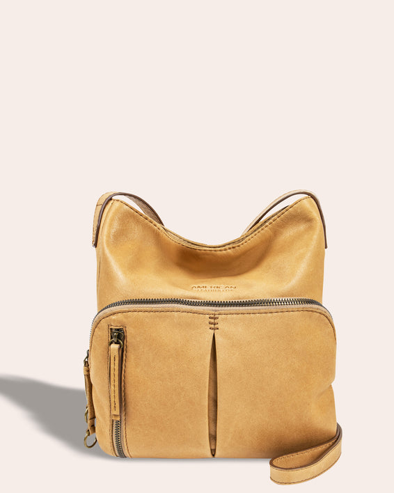 Albany Crossbody - butter rum front