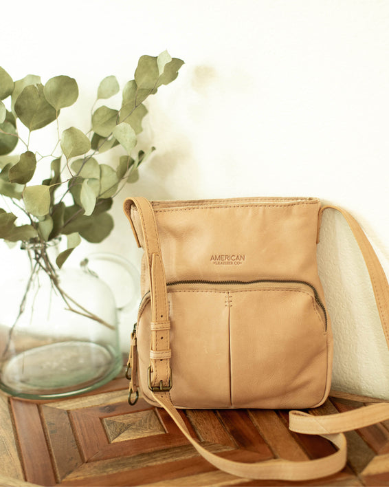 Albany Crossbody - butter rum lifestyle