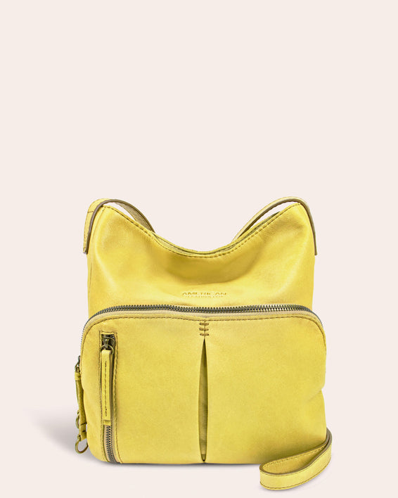 Albany Crossbody - pale yellow front