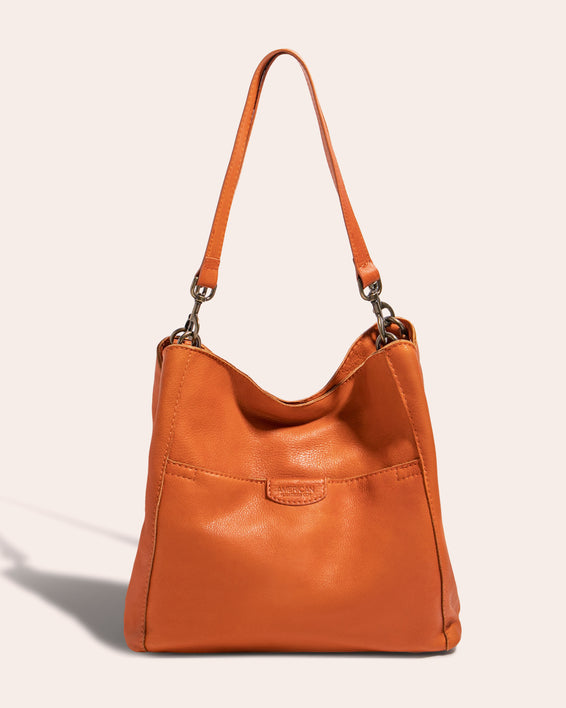 Austin Triple Entry Hobo - amber front