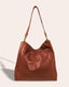 Austin Triple Entry Hobo - ash grey back