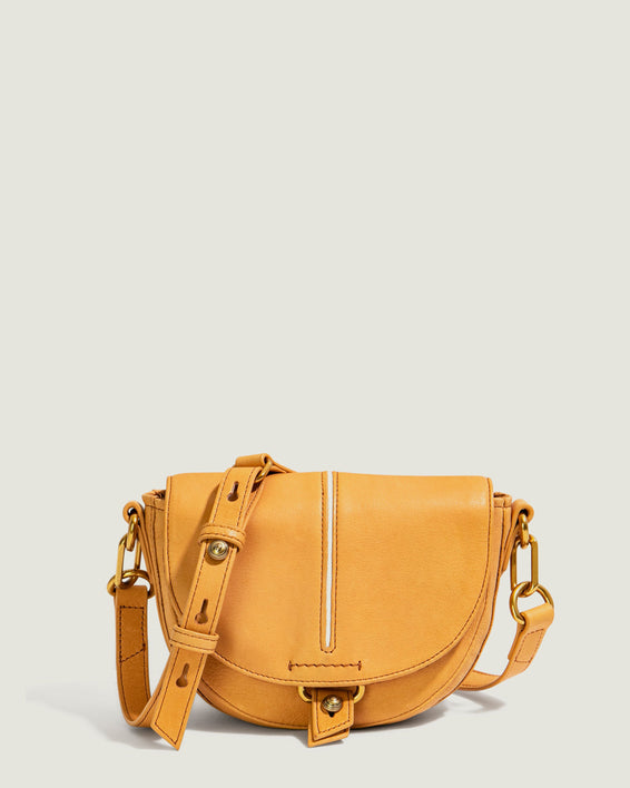 Azalea Saddle Crossbody - apricot front