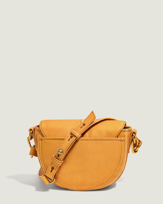 Azalea Saddle Crossbody - apricot back