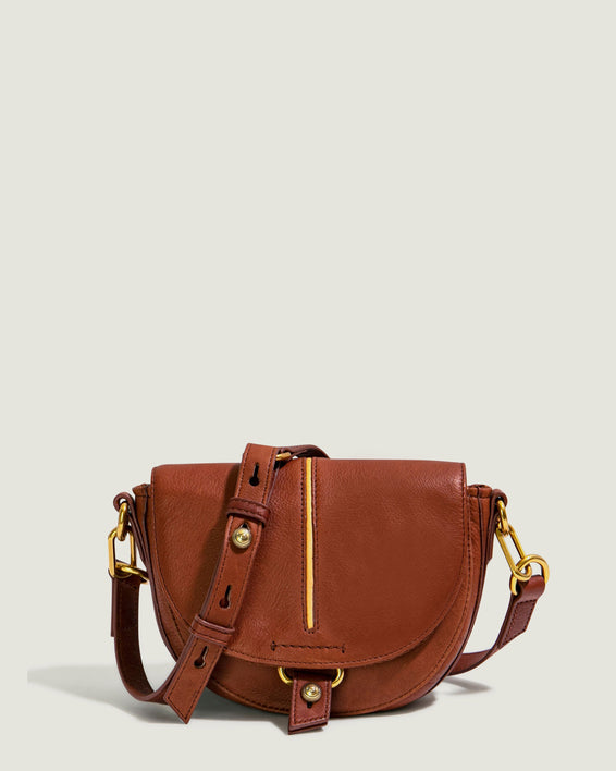 Azalea Saddle Crossbody - brandy front