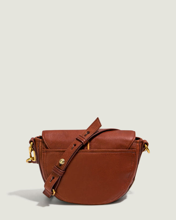 Azalea Saddle Crossbody - brandy back