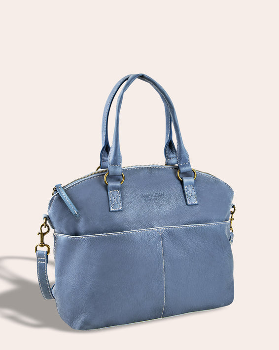 Carrie Dome Satchel - side angle
