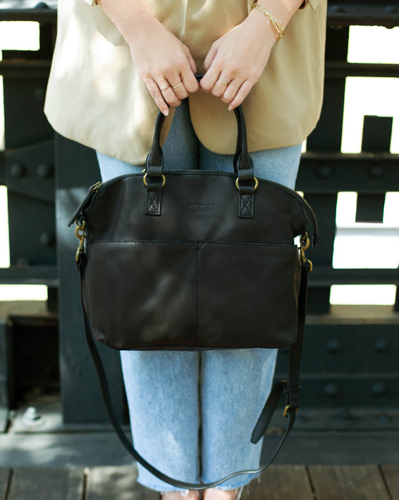 Carrie Dome Satchel - black lifestyle